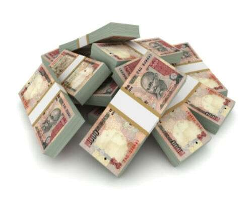 Personal loan in Indian rupee stacks
