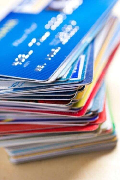 credit card stack