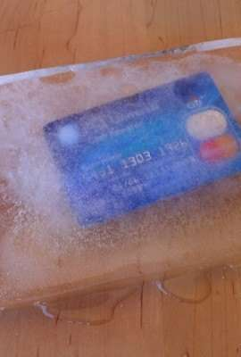Credit Card in Ice