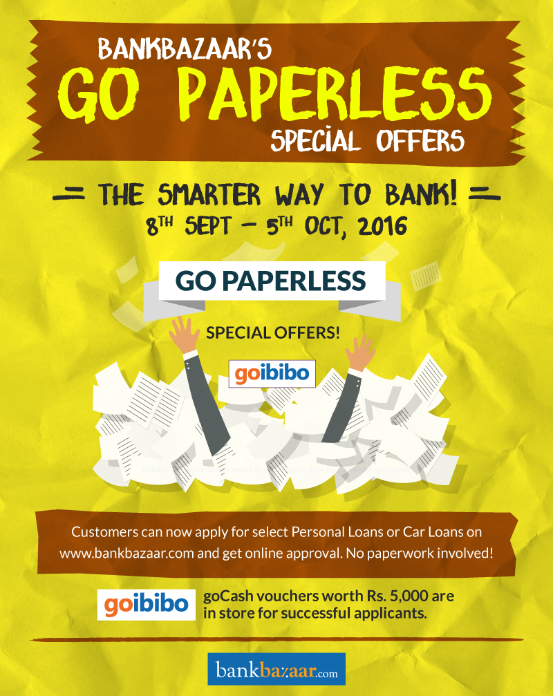 Go Paperless With BankBazaar!