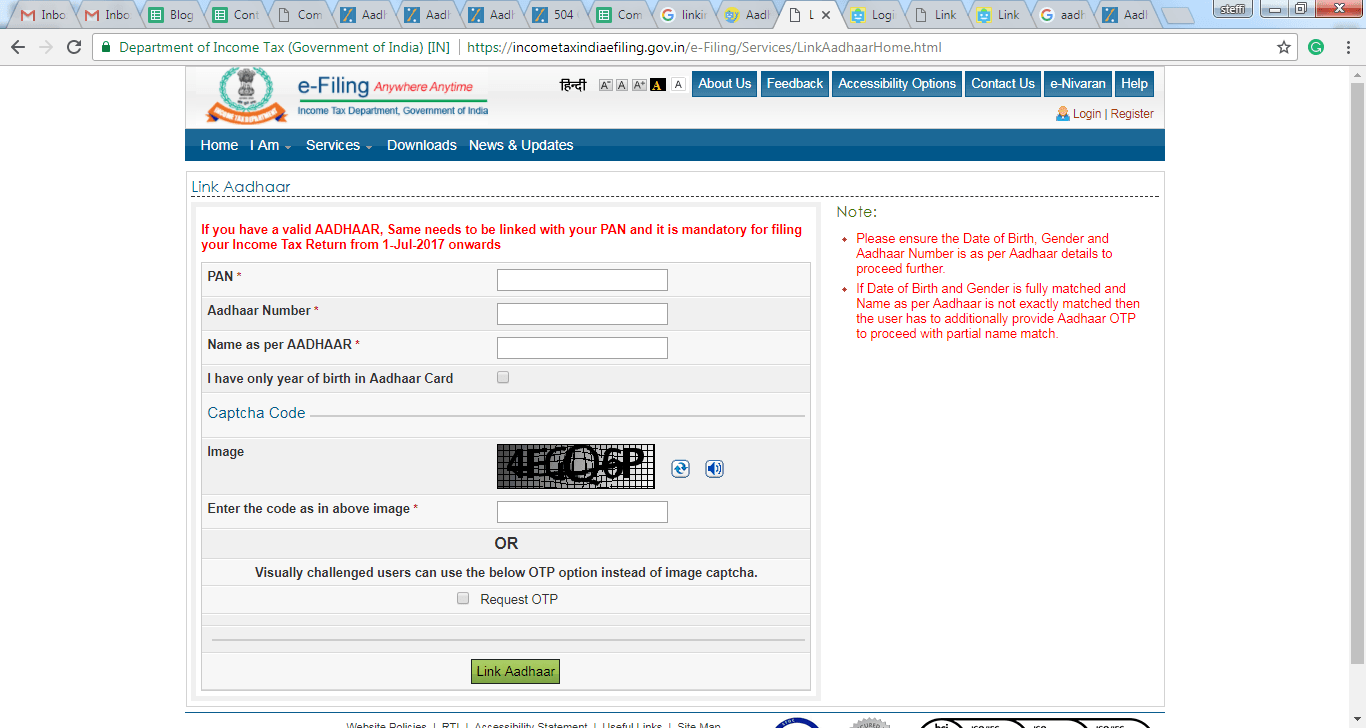 How To Link Your Aadhaar And PAN To File IT Returns