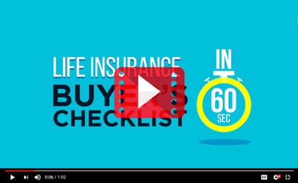 Life Insurance Buyer's Checklist #In60Seconds